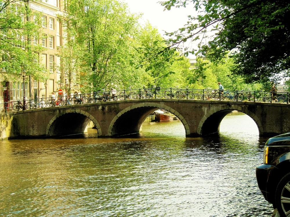Bridge in Amsterdam by Wijnie de Groot
