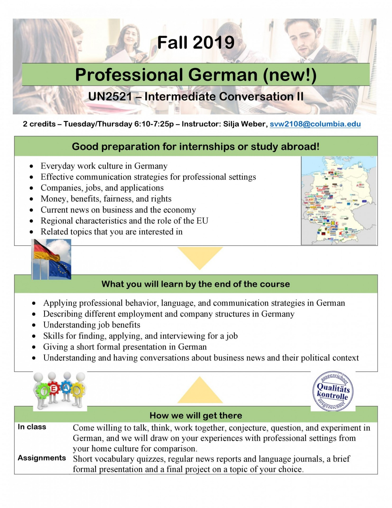 New Professional German course