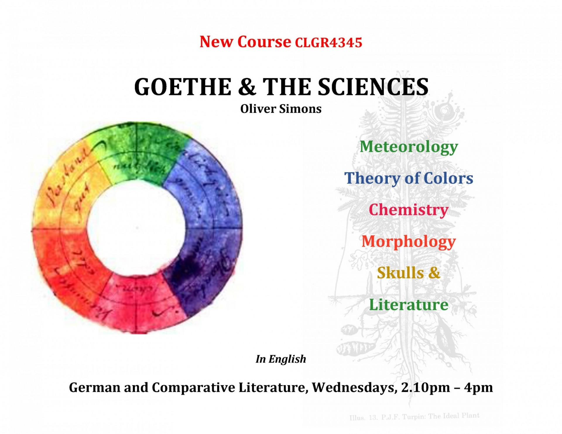 Goethe and the Sciences Course Poster