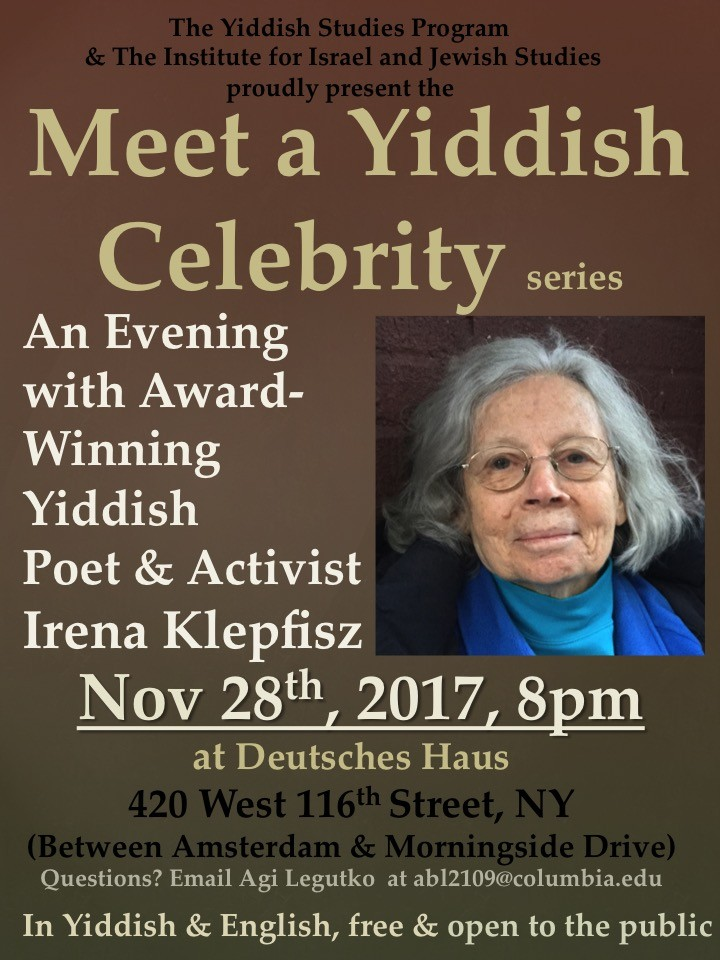 Meet a yiddish celebrity department of germanic languages meet a yiddish celebrity irena klepfisz m4hsunfo