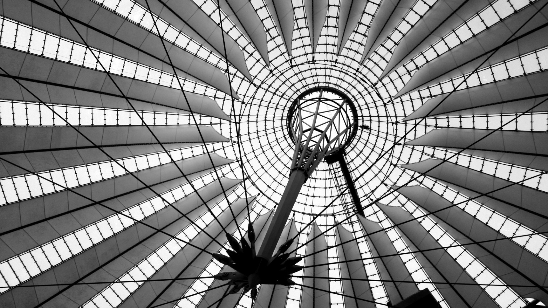 Roof of Sony Center in Berlin